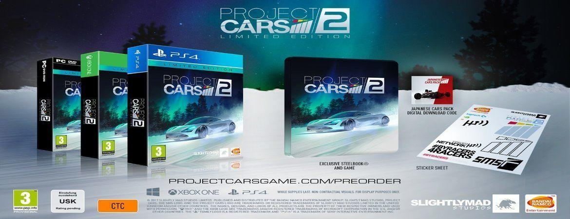 Project Cars 2 LIMITED EDITION PS4, XBOX ONE, PC